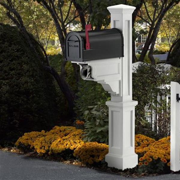 Mayne Executive 2.17-ft White Dover Mailbox Post