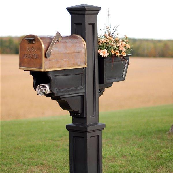 Mayne Signature Plus 3-ft Black  Mailbox Post
