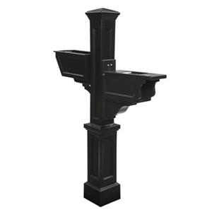 Mayne Signature Plus 3-ft Black  Mailbox Post