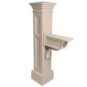 Mayne Estate Liberty 2.5-ft Beige In Ground Mailbox Post