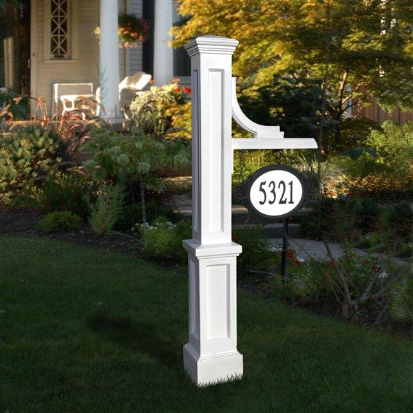 Mayne Woodhaven Address Sign Post - White