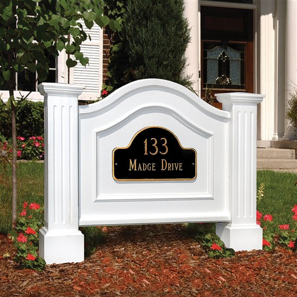 Mayne Nantucket Address Sign - White