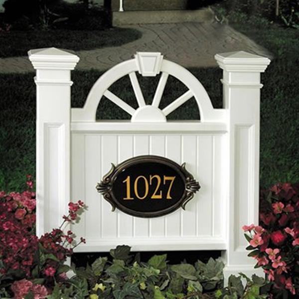 Mayne Winchester Address Sign - White