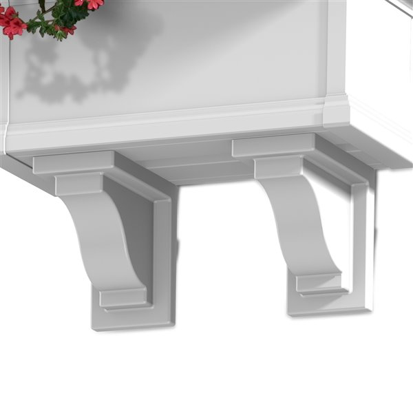 Mayne 8.5-in Yorkshire Decorative Supports 2-Pack - White