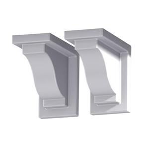 Mayne 8.5-in Yorkshire Decorative Supports 2-Pack