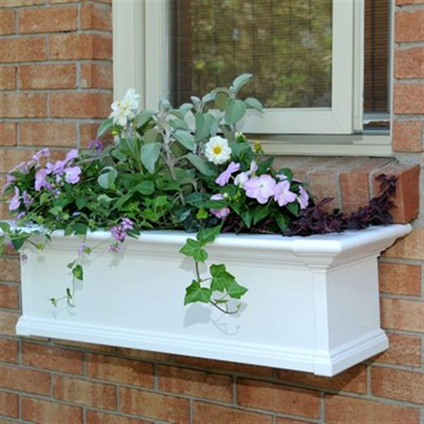 Mayne Yorkshire 3-ft White Window Box