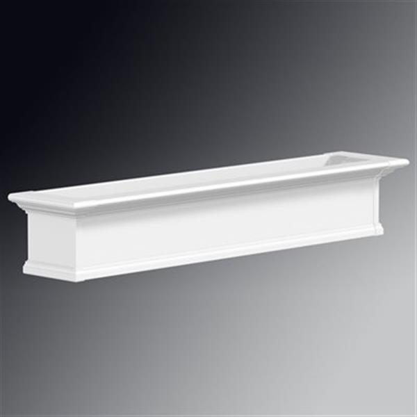 Mayne Yorkshire 5-ft White Window Box