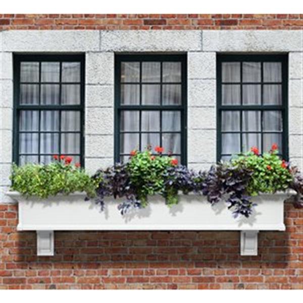 Mayne Yorkshire 6-ft White Window Box