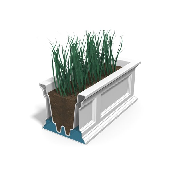Mayne Fairfield 4-ft Self-Watering Black Window Box
