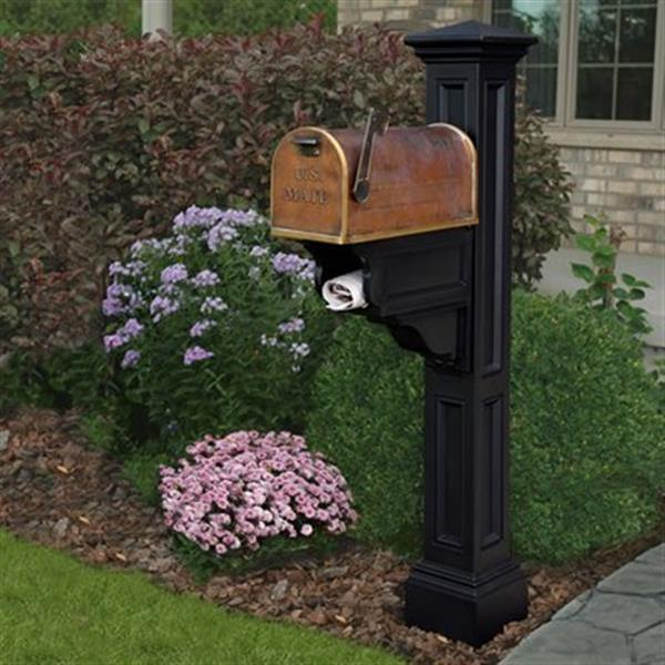 Mayne Charleston 2-ft Black In Ground Mailbox Post
