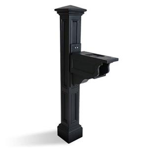 Mayne Charleston 2-ft Black In Ground Mailbox Post