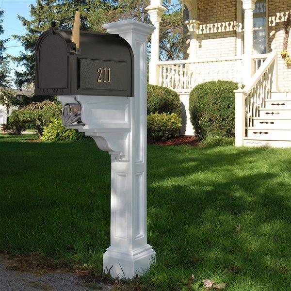 Mayne Charleston 2-ft White In Ground Mailbox Post