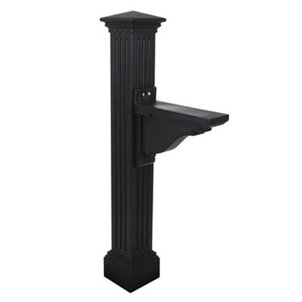 Mayne Manchester 2-ft Black In Ground Mailbox Post
