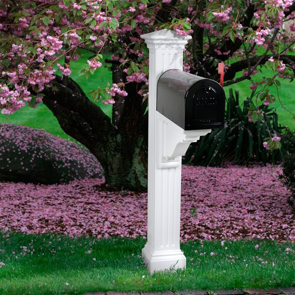Mayne Manchester 2-ft White In Ground Mailbox Post