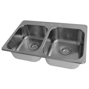 Acri-tec Industries 20.75-in x 31.25-in x 7-in Stainless Steel Double Basin Kitchen Sink