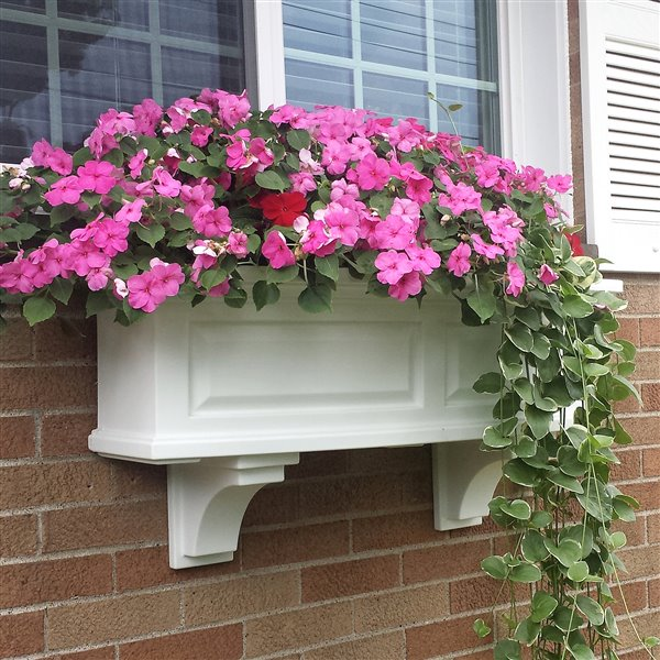 Mayne Nantucket 3-ft Window Box - White