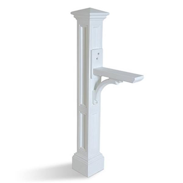 Mayne Charleston 2-ft White In Ground Mailbox Post