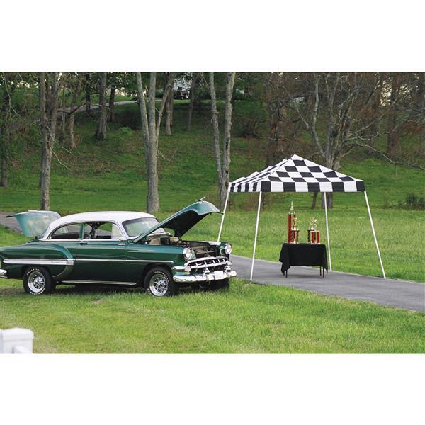 ShelterLogic Pop-Up Canopy HD® Slant - 10-ft x 10-ft - Checkered