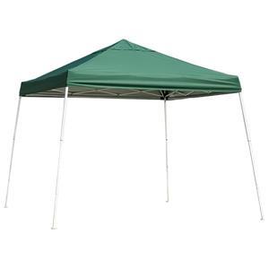 ShelterLogic HD Series 12-ft x 12-ft Green Square Slant Leg Pop-Up Canopy