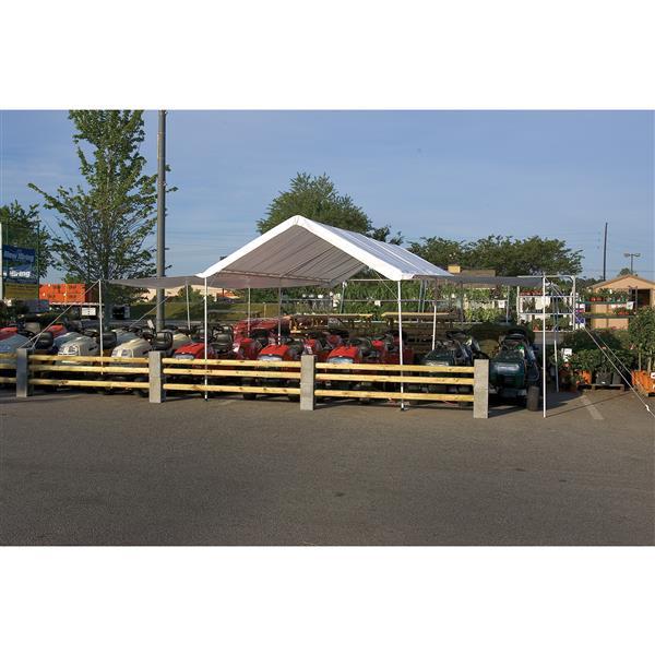 ShelterLogic Canopy Extension Kit - 10-ft x 20-ft - White