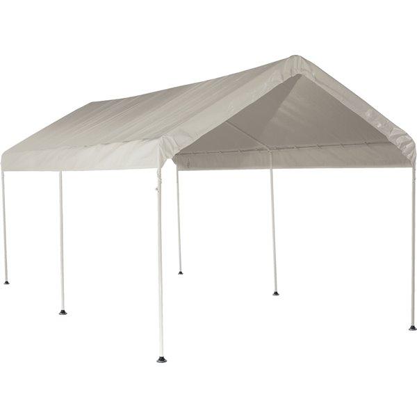 Auvent blanc à 6 pattes Shelter Logic Max AP, 10 pi x 20 pi