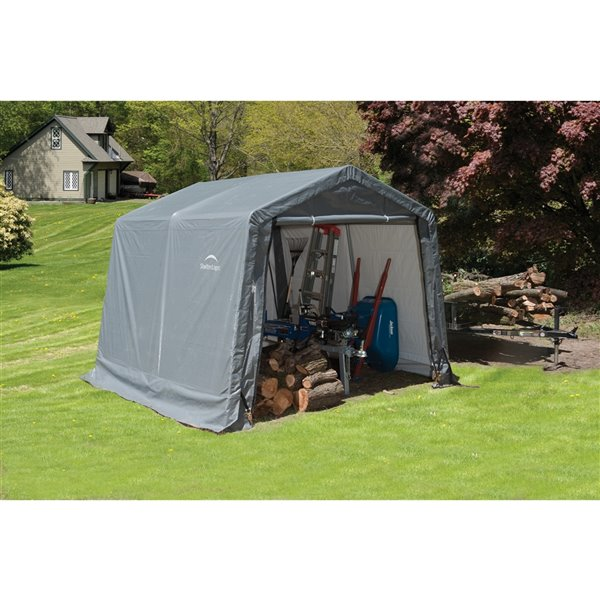 Shed-in-a-Box Storage Shelter 10 x 10 x 8 ft Gray