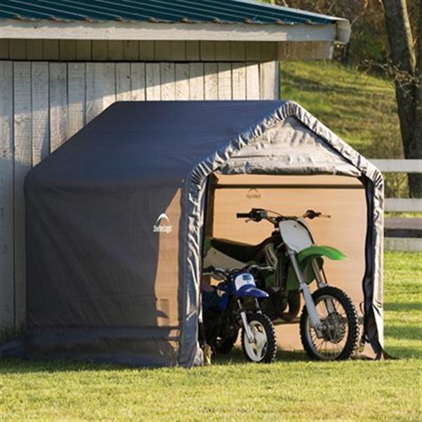 ShelterLogic Shed-in-a-Box® Storage Shelter - 6-ft x 6-ft - Grey