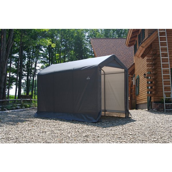 Shed-in-a-Box Storage Shelter 6 x 10 x 6.5 ft Gray