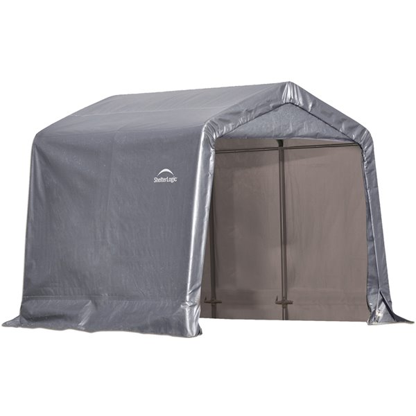 Shed-in-a-Box Storage Shelter 8 x 8 x 8 ft Gray