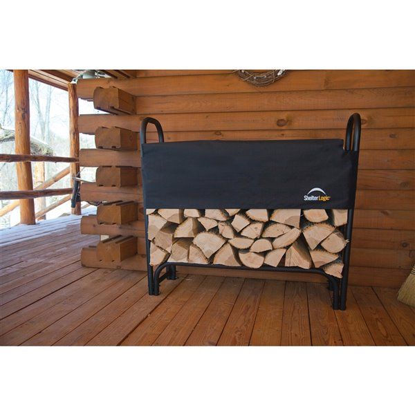 Heavy Duty Firewood Rack with Cover 4 ft