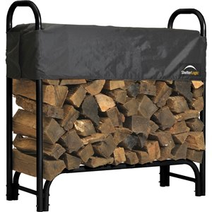 Shelter Logic Covered Firewood Rack
