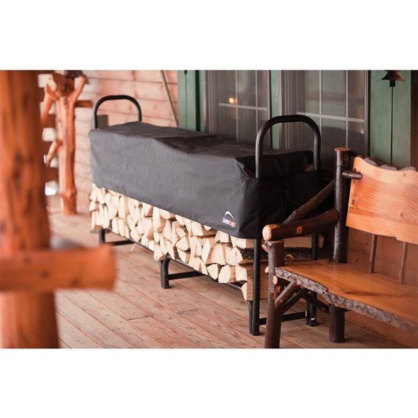 Heavy Duty Firewood Rack with Cover 8 ft