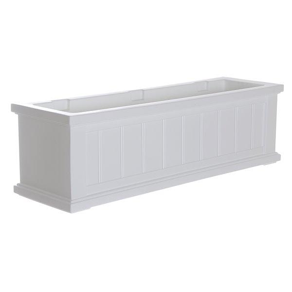 Mayne Cape Cod 3-ft White Window Box