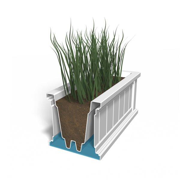 Mayne Cape Cod 4-ft White Window Box Planter