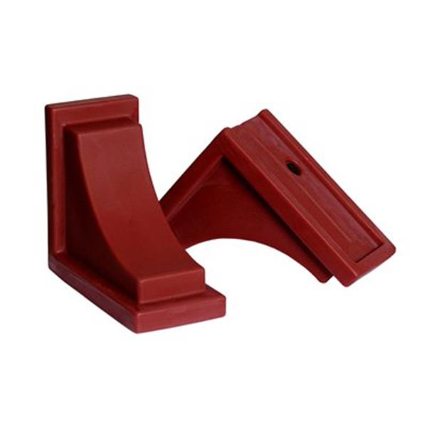 Mayne 8-in Nantucket Decorative Supports 2-Pack - Red