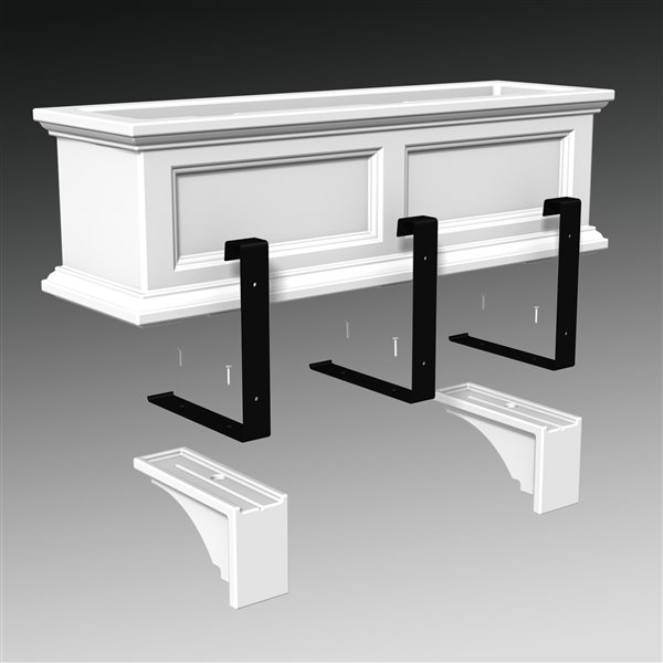 Mayne Fairfield Decorative Supports 2-Pack - Black