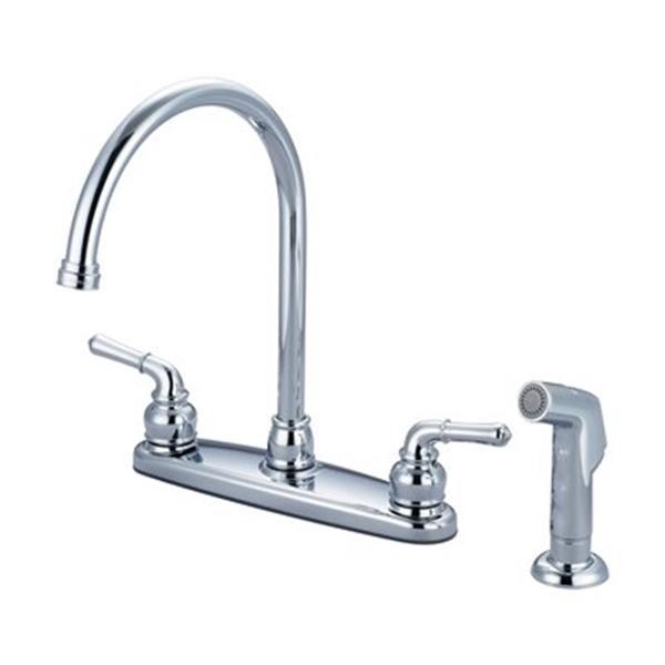 Olympia Faucet ACCENT Chrome Kitchen Faucet with Side Spray