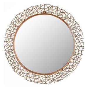 Safavieh 28.3-in Copper Twig Wall Mirror