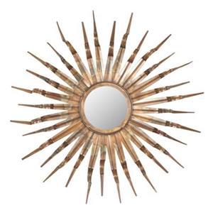 Safavieh 33.1-in Copper Sun Wall Mirror
