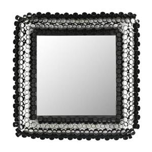 Safavieh 25.2-in Black Iron Tube Square Wall Mirror
