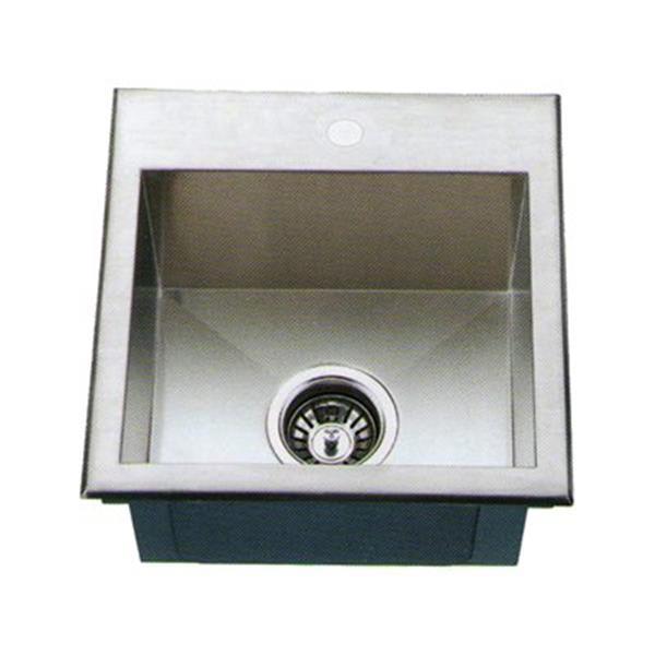 Acri-tec Industries 30-in x 18-in Under-Mount Small Radius Corner Kitchen Sink