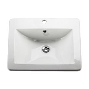 Acri-tec Industries Drop-In Ceramic Rectangular Sink,36861