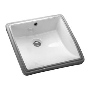 Acri-tec Industries 17-in White Undermount Ceramic Square Sink