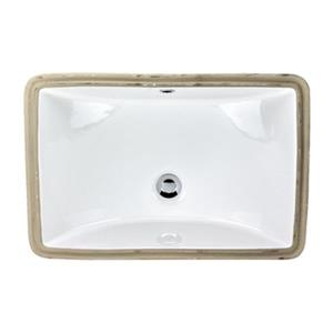 Acri-tec Industries 15-in White Undermount Ceramic Rectangular Sink
