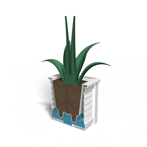 Mayne Lakeland 16-in x 16-in Black Planter