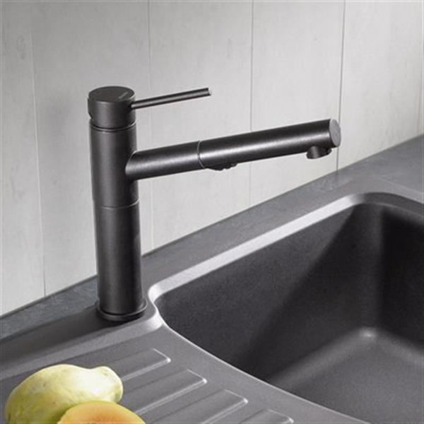 Blanco Alta Dual Spray Silgranit Brown Kitchen Faucet