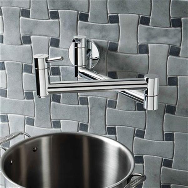 Blanco Cantata Ii Chrome Pot Filler Kitchen Faucet 400525