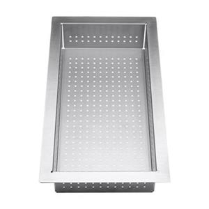 BLANCO Precision 17.50-in x 10.50-in Stainless Steel Colander with Drainboard