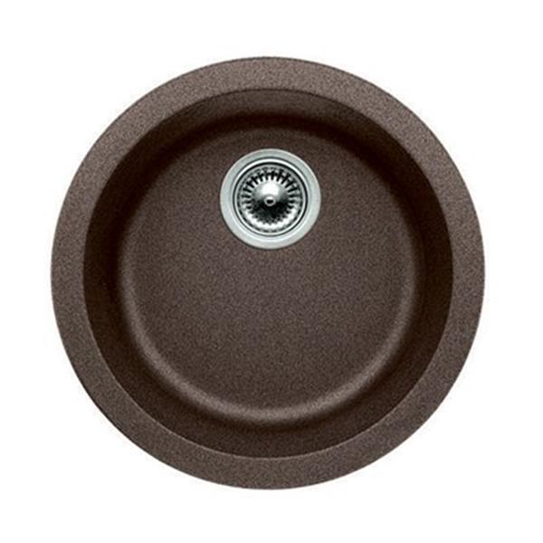 Blanco Rondo 17.75-in x 17.75-in x 6.50-in Cafe Silgranit Single Bowl Kitchen Sink