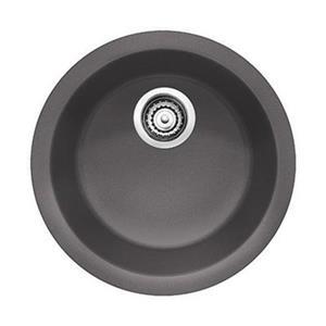 Blanco Rondo 17.75-in x 17.75-in x 6.50-in Cinder Silgranit Single Bowl Kitchen Sink